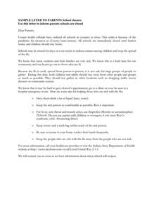Closing Letter To Parents Sle Letter To Parents School Closure In Word And Pdf Formats