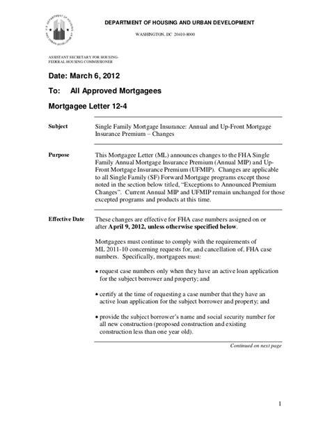 Mortgagee Letter For Streamline Refinance fha streamline refinance announcement from hud