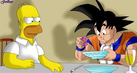 imagenes de goku comiendo homero y goku by guilleapi on deviantart