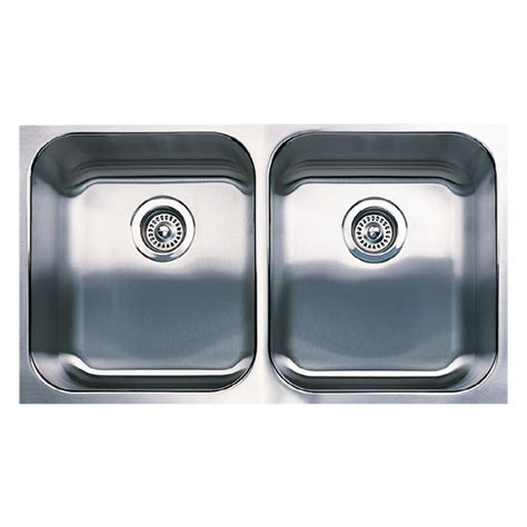 Blanco Stainless Steel Kitchen Sinks Shop Blanco Spex Plus 18 In X 31 12 In Stainless Steel Basin Undermount Kitchen Sink At