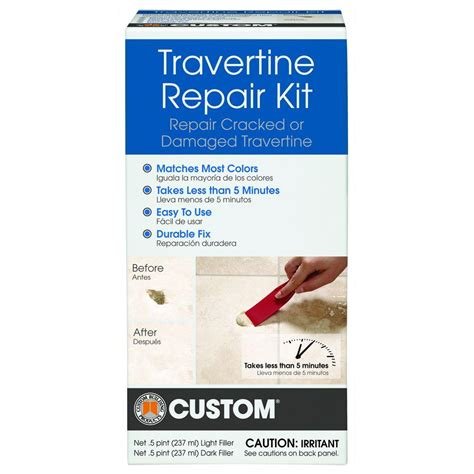 custom building products travertine repair kit travrk