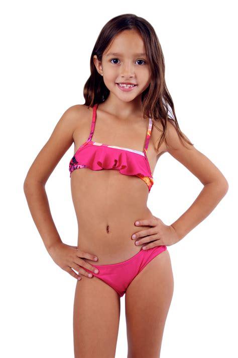child model girls in bikinis sweetheart collection watermelon rainbow lava bow back