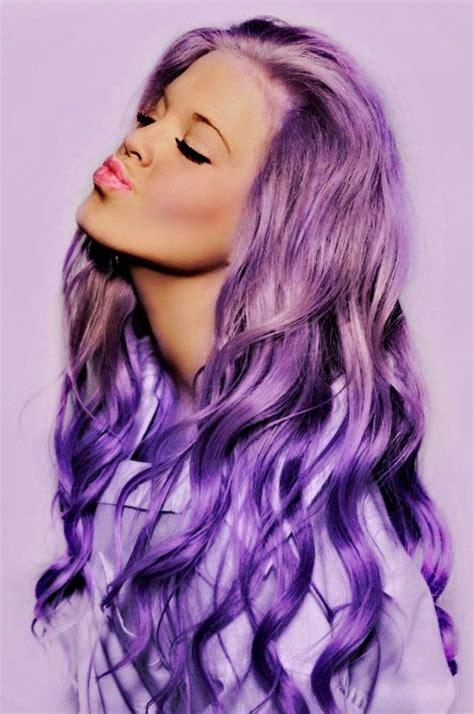 blonde hair purple lipstick long purple dyed hair purple pinterest