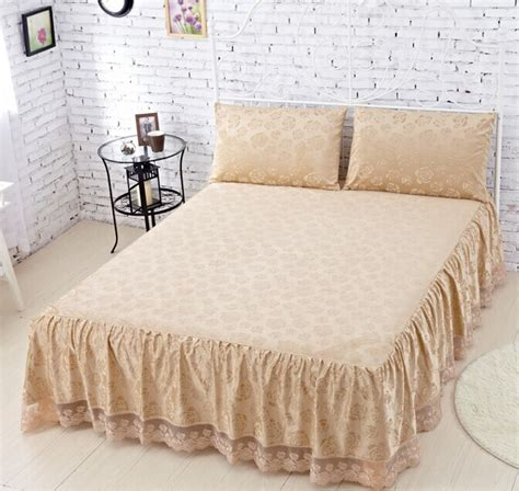 fitted bed coverlet 3pcs set velvet bed skirt bed spread bed cover fitted