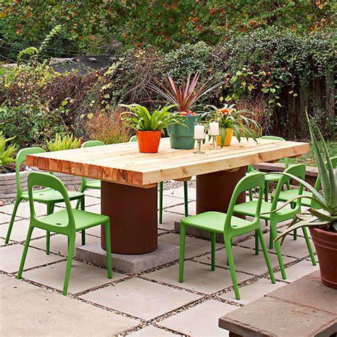 diy garden table 10 truly easy yet innovative diy garden furniture ideas