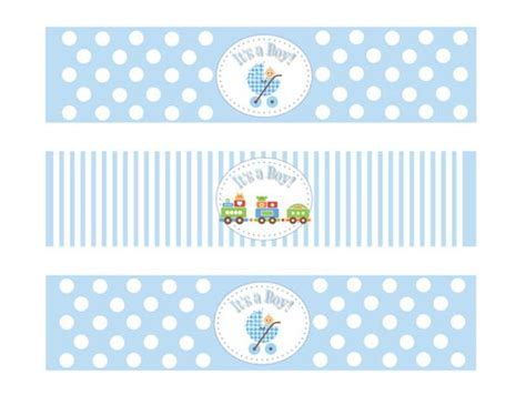 baby boy theme printable baby shower boy theme water bottle by