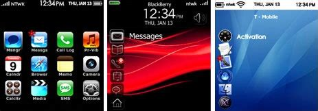 iphone themes for bb blackberry iphone theme