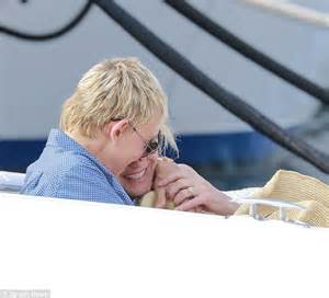 did and portia up degeneres and portia de celebrate in