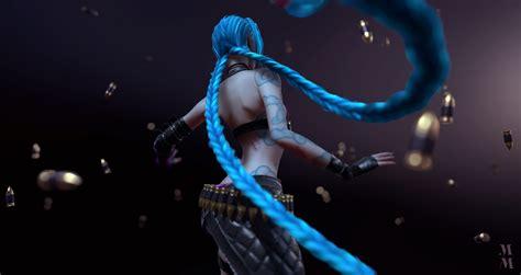 jinx background league of legends hd wallpaper background image