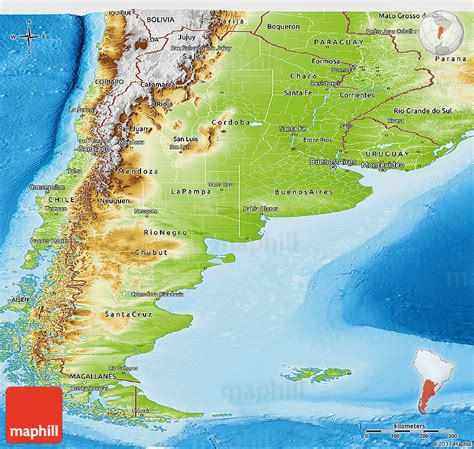 argentina physical map physical panoramic map of argentina