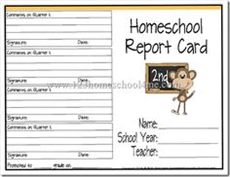 Free Report Card Template Esl by 1000 Images About Homeschool Report Cards On