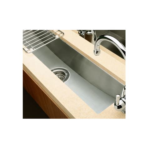 undermount trough sink kohler trough 3187w 838mm undermount stainless steel