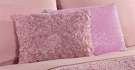 bed cushions dusky pink raised rose duvet quilt cover bed set bedding 4