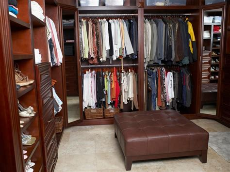 walk in closet organization ideas walk in closet design ideas hgtv