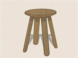 Pencil Like Stool by How To Draw A Stool 6 Steps With Pictures Wikihow