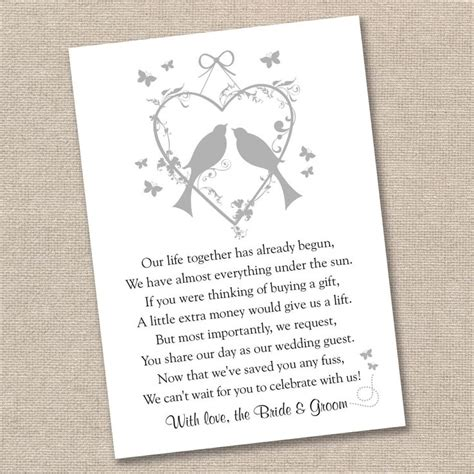Wedding Poems For Cards Money