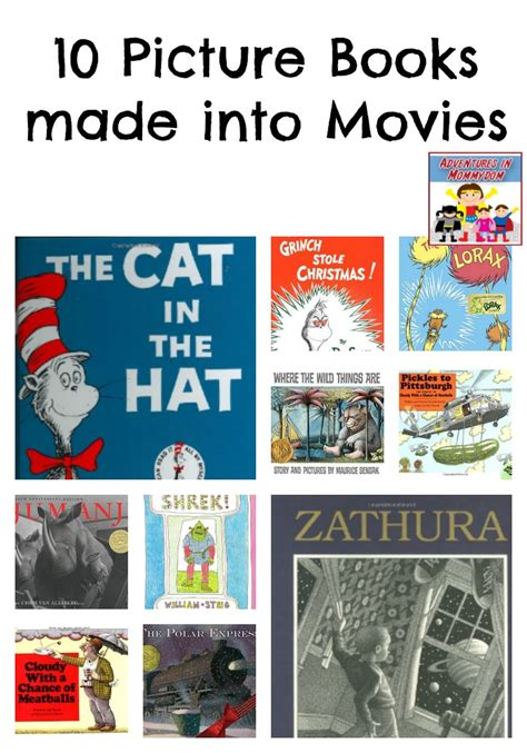 picture books made into 50 book combos to read and