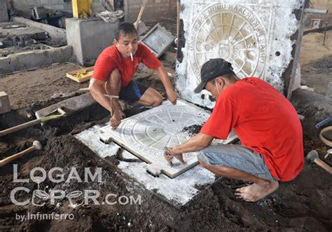 Cetakan Ceper proses membuat cetakan pasir logam ceper