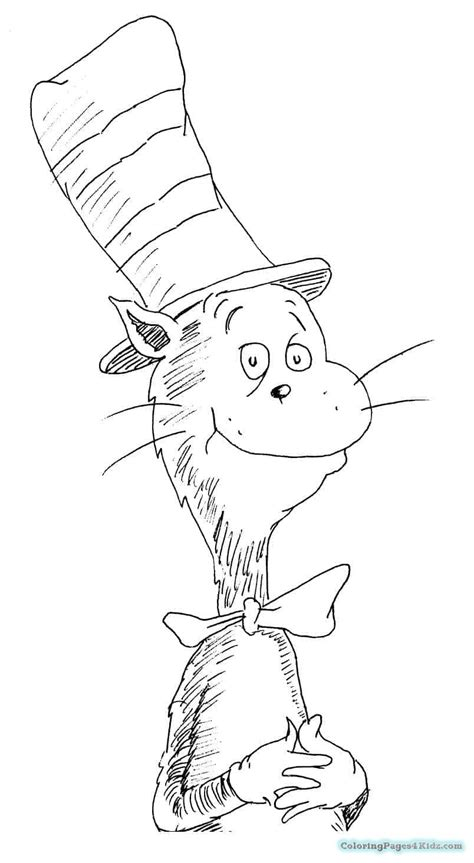 cat coloring page pdf cat in the hat with nick and sally coloring pages pdf