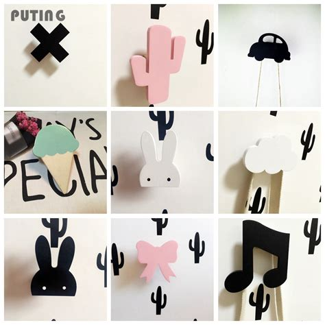 cute coat hooks cute bunny wooden clothes hook for kids room wall decorate