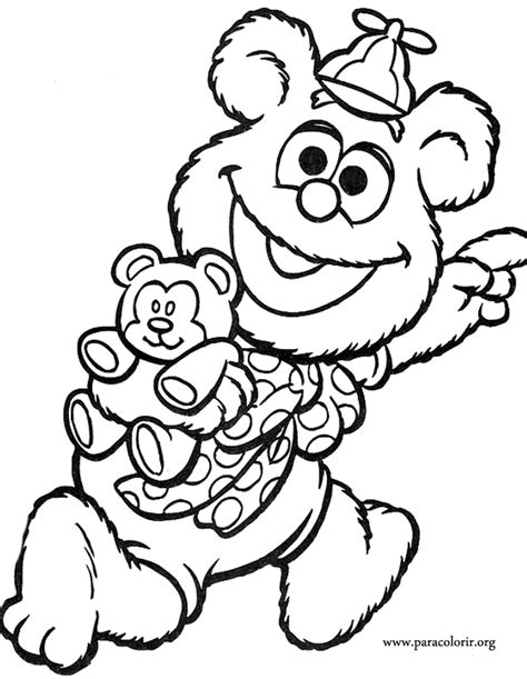 muppet babies fozzie bear coloring page