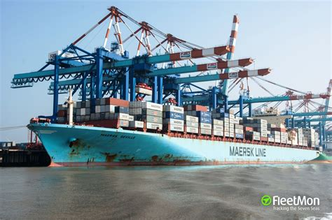 maersk to schedule maersk seville container ship imo 9299927
