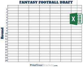 Football Draft Spreadsheet Template by Excel Spreadsheet Football Draft Boards