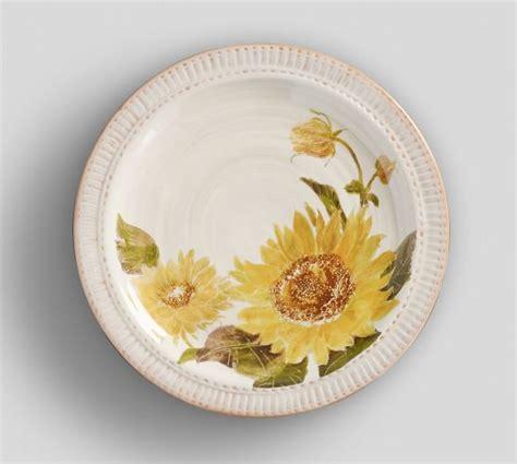 Sunflower Rug Pottery Barn by Sunflower Salad Plate Set Of 4 Pottery Barn