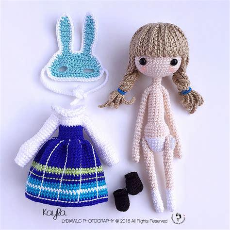 crochet doll 凯拉 a with rabbit mask crochet