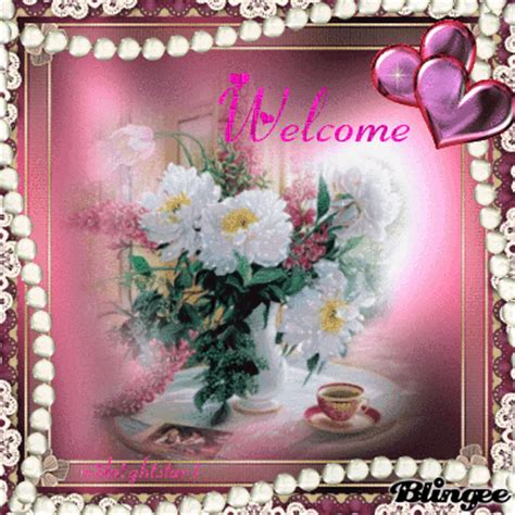 welcome images with flowers welcome flower lovers animated picture codes and