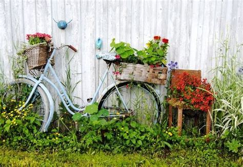 garden decoration cycle 17 ideas for garden decorations made from