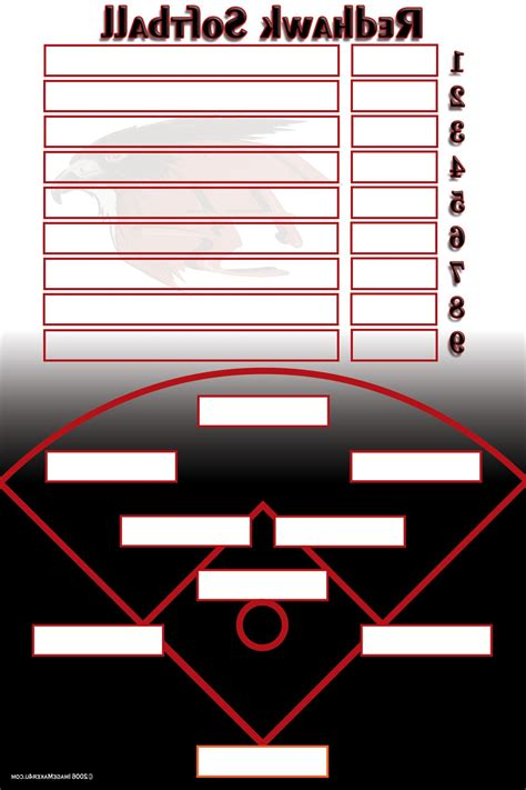 softball lineup sheets softball lineup card template free