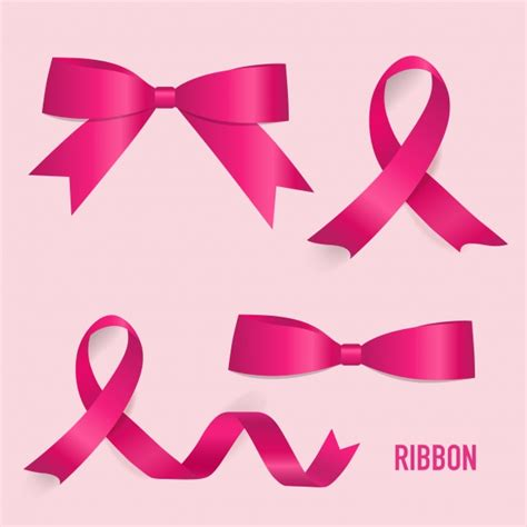 logo ribbon vector free pink ribbons collection vector free