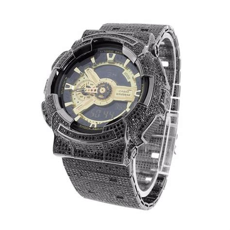 G Shock Ga200 Black Gold 22 best custom iced out casio gshock dw6900 ga100 ga200