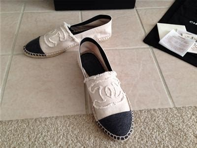 Chanel Espadrilles 1 Supermirror Quality 5 Warna Size 35 40 Inso 1 chanel canvas charcoal gray beige cc espadrilles flat shoes size 9 5 41