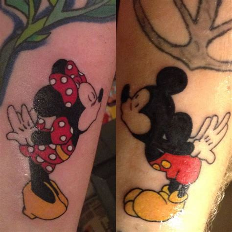 Mickey Mouse Tattoo For Couples | mickey and minnie mouse couples tattoos disney inspired