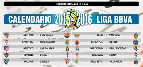 Calendario Dela Liga Bbva Calendario Completo De La Liga Bbva 2015 2016