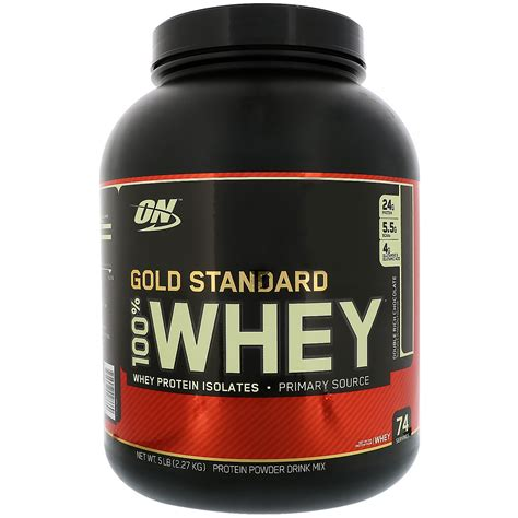 Whey Protein optimum nutrition gold standard 100 whey rich chocolate 5 lbs 2 27 kg iherb