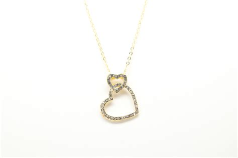 plated necklace gold plated necklace with cubic zirconia soko142 ebay