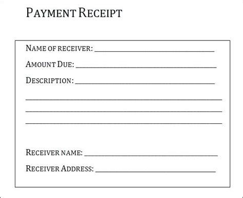 Written Receipt Template by Written Receipt Template Rusinfobiz