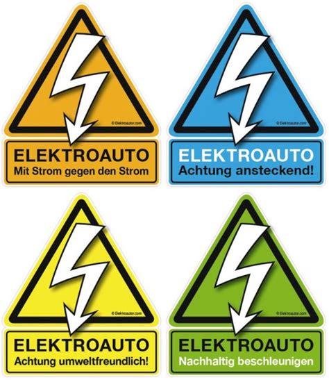 Aufkleber Duden by Quot Achtung Elektroauto Quot Sticker Mit Umfrage Topic