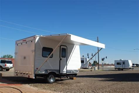 12 ft rv awning toy hauler image exterior pic of 12 foot quot dk quot trailer