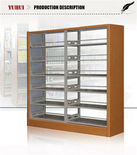 Rak Buku Perpustakaan Stainless Steel Book Rack high quality 6 tier metal book shelf steel book shelf