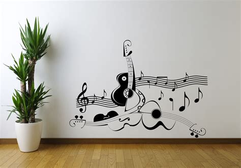 wall mural templates guitar note symbol violin wall sticker decal