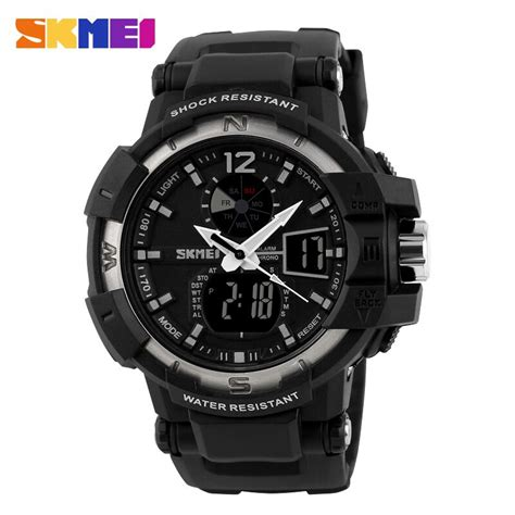 Jam Tangan Skmei 1155 Waterproof Digital Analog 100 Original Murah skmei jam tangan digital analog pria ad1040 black silver jakartanotebook