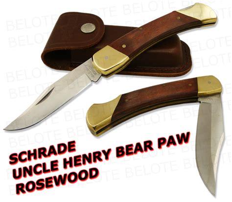 schrade lb7 knife schrade henry rosewood paw w sheath lb7 new ebay