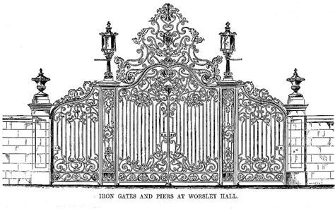 Exterior Wood Doors With Glass Panels iron gates and piers at worsley new hall by edward blore