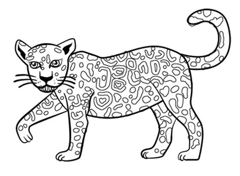 Amazing Pictures Jaguar Drawing Outline Color With Baby Baby Jaguar Coloring Pages