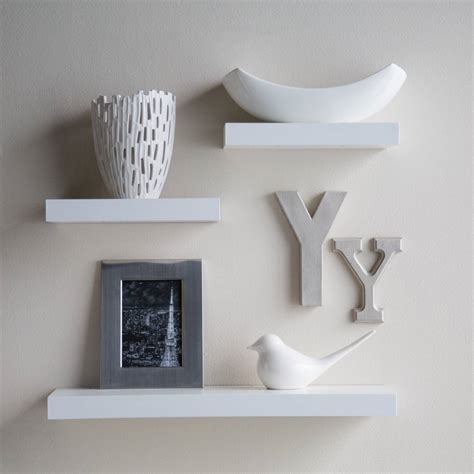 white floating wall shelf decorative wall shelves ideas