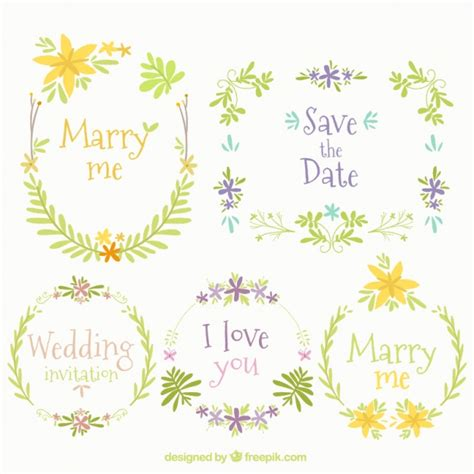 cornici floreali gratis cinque cornici floreali per matrimoni scaricare vettori